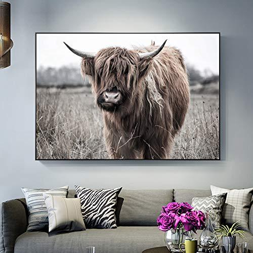 GJQFJBS Pferd Wand Leinwand Druck Gemälde läuft im Sonnenuntergang Moderne Tierkunst Wohnzimmer Dekoration A4 30x40cm