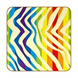 Posavasos para Bebidas Arco Iris Jpg Portavasos Juego De 6 Cuero Decorativo Coaster Creativa Posavasos Set De Regalo 10.3x10.3 cm