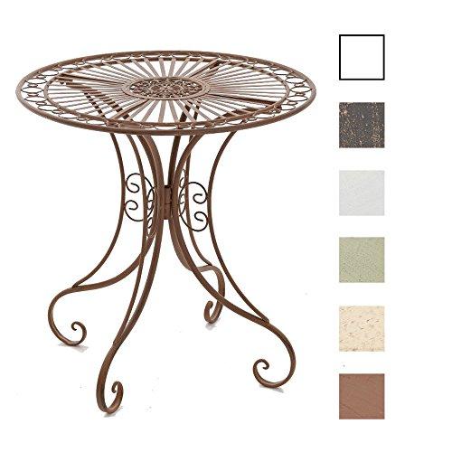 CLP Eisentisch Hari im Jugendstil I Gartentisch mit kunstvollen Verzierungen I erhältlich, Farbe:antik braun