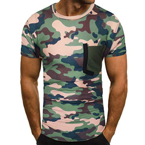 Luckycat Herren Männer T-Shirt Tarnung Top Bluse Männer Drucken Tees Shirt Kurzarm T-Shirt Casual Bluse Sommer Rundhalsausschnitt Oberseiten Tunika Oversize Tops Lose Sweatshirts