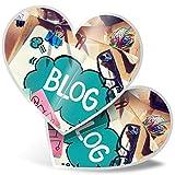 Impresionante pegatinas de corazón de 15 cm – Blog Blogger Influencer Internet Fun calcomanías para portátiles, tabletas, equipaje, libros de chatarra, frigorífico, regalo genial #44340