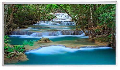 Könighaus Bildheizung (Infrarotheizung mit hochauflösendem Motiv) 5 Jahre Garantie (800-Kanchanaburi Wasserfall Thailand)