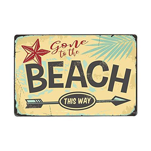 muzi928 Vintage Bar Cartel de Chapa Viejo Rusty Beach Bar Retro Rusty Plate Letrero de Metal 70130