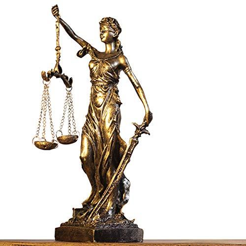 Tauzveok Diosa Griega de la Justicia y la Justicia Retro Decoración del hogar Decoración de la Oficina Sala de Estar Creativa Gabinete de Vino Decoración Interior,Bronce