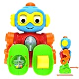 WEofferwhatYOUwant Baby Robot Toddler Pretend Play with a Personality. Right Size Action Figure with Different Mood Spin Eyes