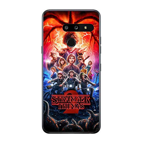 A-Legend Ultra Thin Coque Lightweight Anti-Skid Clear Soft Flexible Gel TPU Case Cover For LG G8 ThinQ-Stranger-Things Eleven Joyce 1