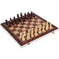 3 in1大型折りたたみ式木製チェスセットボードゲームチェッカー子供向け教育ゲーム,34*34cm
