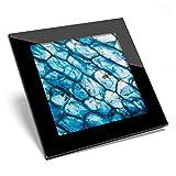 Posavasos de cristal Awesome – Celdas de cebolla azul Microscopio ciencia bio brillante calidad posavasos / protección de mesa para cualquier tipo de mesa #44376