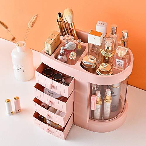 UFLIZOGH make-up organisator grote capaciteit afneembare acryl sieraden cosmetische organisator met 4 lades voor dressoir slaapkamer badkamer (inkt, 30 x 28 x 20cm)