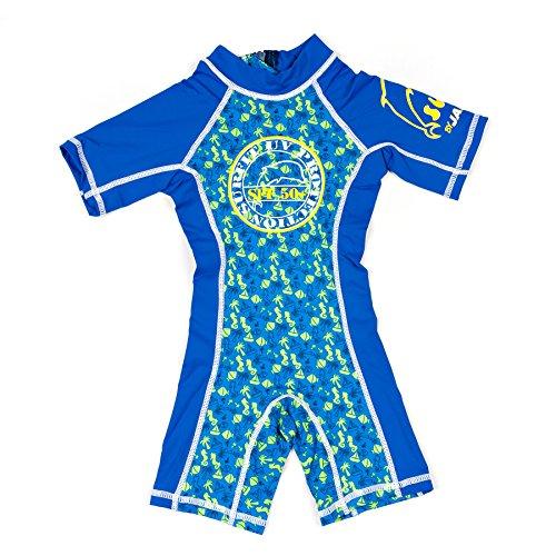 Jakabel Shorty Traje de baño para competición, Niño, Azul (Blue/Beach), L