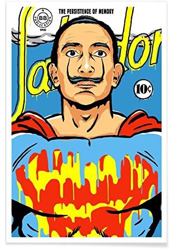 Juniqe® Affiche 40x60cm Pop Art Salvador Dali - Design The World Needs a Salvador (Format : Portrait) - Poster, Tirages d'art & Tableaux par des Artistes indépendants créé par Butcher Billy