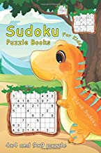 Sudoku Puzzle Books For Kids: 4x4, 9x9 Sudoku For Kids | 160 Sudoku Puzzles For 8 - 12 Year Olds with Cute Dinosaur Cover