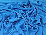 Leichtes Polyester Crepe Georgette-Kleid Stoff türkis
