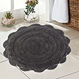 Chardin Home - 100% Pure Cotton - Crochet Round Bath...