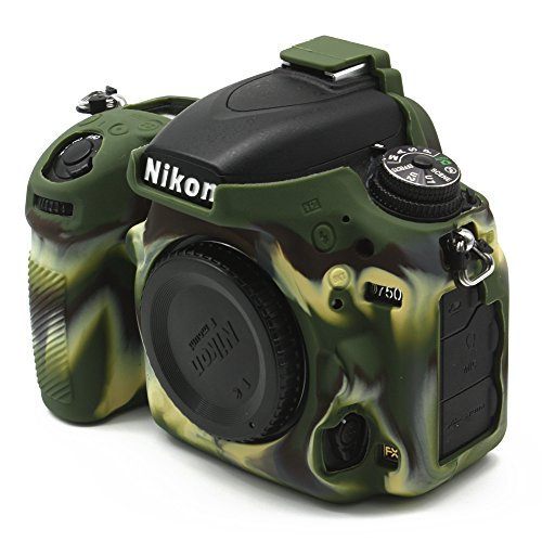 CEARI Silicone Protective Housing Camera Case Body Frame Shell Cover for Nikon D750 DSLR Camera - Camouflage