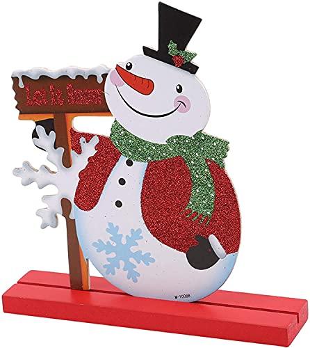 Elch Schneemann Bar Theke Desktop Kleine Dekoration Schneemann Urlaub Weihnachten Urlaub Geschenk Schneemann nützlich und praktisch