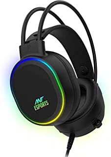 (Renewed) Ant Esports H1000 Pro RGB Gaming Headset for PC / PS4 / PS5 / Xbox One / Switch1 - Black