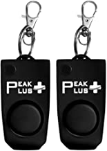 PeakPlus Personal Alarms for Women [2 Pack] 130 dB Personal Safety Alarm Keychain with Hidden Off Panic Button, Safety Whistle for Women, Elderly, Children or Emergency