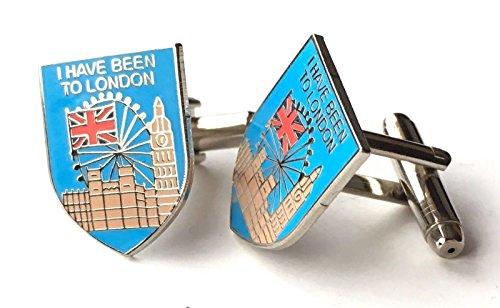 Personnalisé I Have Been au souvenir de Londres en émail Boutons de manchette Huppé (N53)