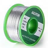 AUSTOR, filo per saldature, senza piombo e con anima in colofonia, 1,5mm di spessore; Sn 99% Ag 0,3% Cu 0,7%, 100 g