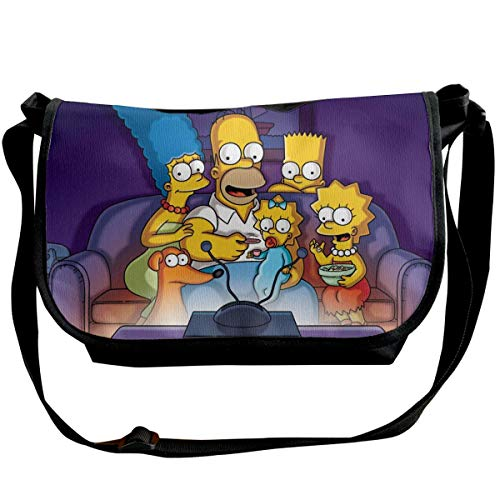 JONINOT The Simpsons Shoulder Bags Commute Messenger Bag Work Purses Crossbody Satchel Schoolbag
