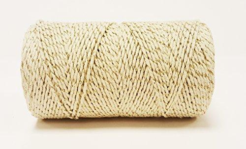 Gespout Coton Bakers Twine No/ël Kit de Bandes 100m Wrap Corde en Coton Bouteille Bo/îte Cadeau D/écor Ficelle Marron Clair 1,5mm