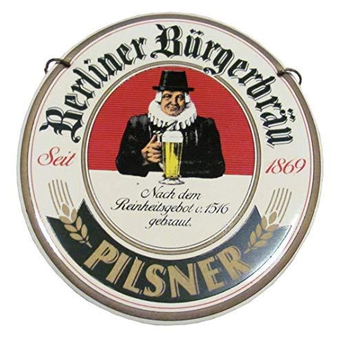 Berliner Bürgerbräu - Pilsner - Zapfhahnschild - 10 x 9 cm