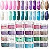 Modelones 24 Pcs Acrylic Powder Set, 24 Colors Professional Polymer Acrylic Nail...