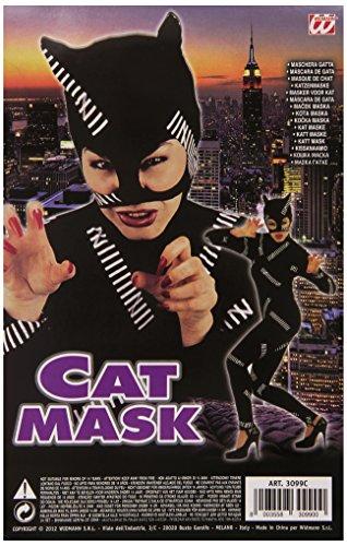 Widmann S.R.L. Hippie Femme Cat Eye Mask-Black, One Taille