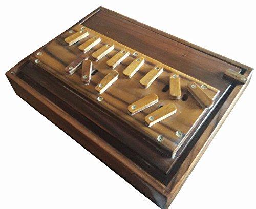 New indo-gaelic 13-stopper breitbandmodus Shruti Box Surpeti in Teak, robuste Konstruktion