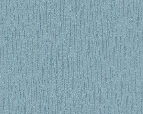 Vliestapete Blechkisten graublauweiß