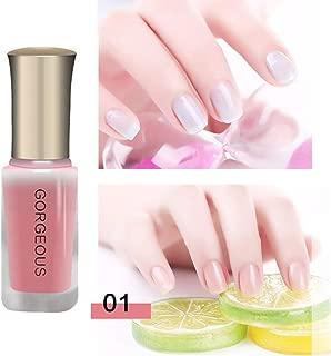 Ocamo Jelly Gel Nail Polish Nude Series Translucent Nail Polish Jelly Nail Long Lasting Enamel Paint 1#