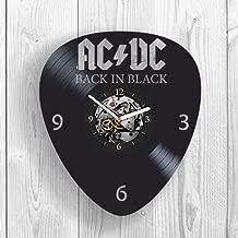 Vinyl Clock, Wall Decor, AC DC, Band, Back in Black, Rock Music, Highway to Hell, Gift Ideas For Fans, Guitar, Drums, Bon Scott, Wall Art, Home Decor, Vintage Vinyl Record, Handmade Gift, Modern Art