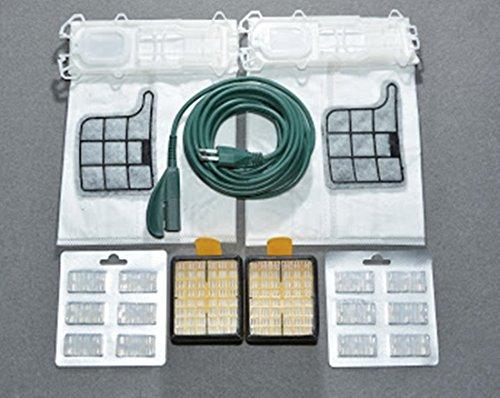 12 Staubsaugerbeutel aus Mikrofaser, 12 Duftstäbchen + 2 Filter EPA + 2 Filter + 1 elektrisches Kabel mit 7 m Motor, für Kobold VK 135 136 ASPIRAPOLVERE VORWERK ADATTABILI