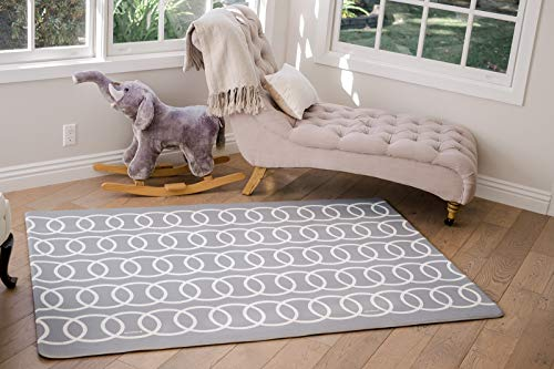 Lollaland Premium Stylish Foam Floor Mat | Cushioned Comfort Mats Toddlers Infants Babies Children | Extra Thick Baby Play Mat Haute Modern Grey | Kids Designer Playmat Padded Crawling Non Toxic Gray