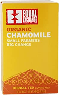 Equal Exchange - Organic Small Farmers Big Change Herbal Tea Caffeine Free Chamomile - 20 Tea Bags