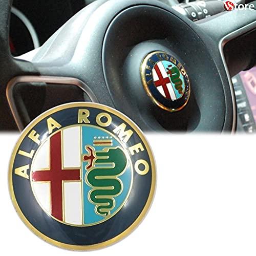 Logo per Volante Sterzo FREGIO Stemma Per Alfa Romeo Oro Gold 40mm Giulietta, Mito, 147, 159, 156, 4c, Brera