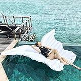 Nadar Juguetes para Fiestas Balsa Inflable Jumbo Alas de Mariposa Blancas Inflables Cámara Flotante de la Vida Deriva de la Piscina Piscina Al Aire Libre Lobby Del Juguete Cama para Adultos, Niños To