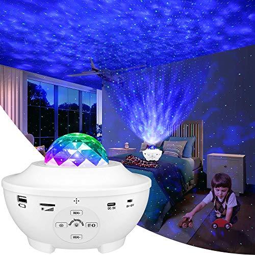 LBELL 「2021最新版&リモコン式」 スタープロジェクターライト ベッドサイドランプ 投影ランプ プラネタリウム Bluetooth/USBメモリに対応 星空ライト 10種点灯モード タイマー機能付き 音声制御 輝度/音量調整可 ロマンチック雰囲気作り クリスマス/ハロウィン/パーテイー飾り/お子さん・彼女にプレゼント/誕生日ギフト