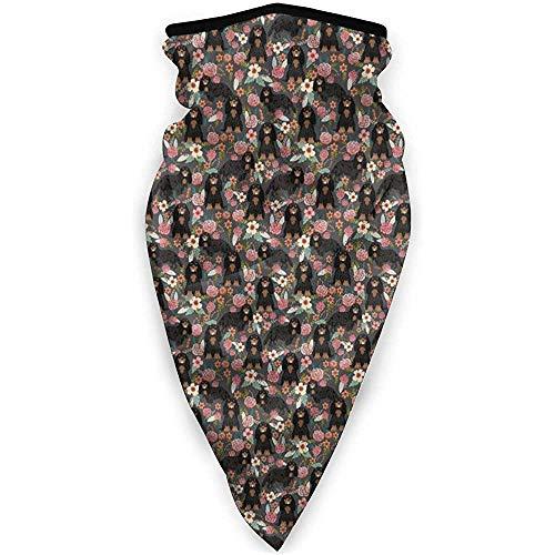 Zome Lag Multifunctionele hoofdband, outdoor-bandanas, hoofdbedekking, uniseks halswarmer, bivakmuts, Engelse Springer Spaniel bloemenhond outdoor bandanas, gezichtsschaal, soft headwrap