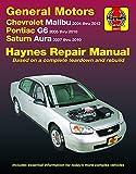 Chevrolet Malibu 2004 thru 2012, Pontiac G6 2005-2010 & Saturn Aura 2007-2010 Haynes Repair Manual: Does not include 2004 and 2005 Chevrolet Classic ... specific to hybrid models (Haynes Automotive)