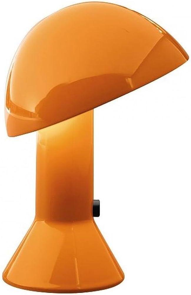 Martinelli luce elmetto, lampada da tavolo,in alluminio e resina 685/AR