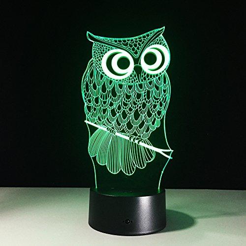 Alle soorten uil 3D nachtlicht RGB veranderbare sfeerlamp LED DC 5 V USB decoratieve tafellamp baby slee nachtlicht 7 kleuren