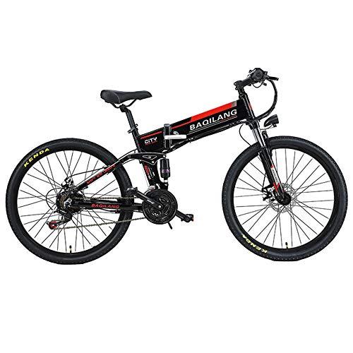 MERRYHE Bicicleta De Carretera Eléctrica 350W 48V 10Ah Batería De Litio Extraíble...