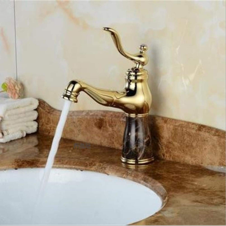 Lddpl Mode Jade Und Messing Bau Gold Fertig Becken Kran Badezimmer Becken Wasserhahn, Waschbecken Mischbatterie Mit Herausziehen Duschkopf