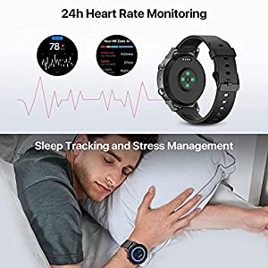 Ticwatch E3 Smart Watch Wear OS by Google Watch for Men and Women Qualcomm Snapdragon Wear 4100 Platform Health Monitor Fitness Tracker GPS NFC Mic Speaker IP68 Waterproof iOS and Android Compatible