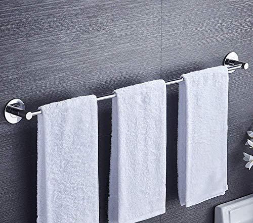 ZJN-JN de baño Toalla Soportes, Estantería de baño BEIEU PunchFree Acero Inoxidable 304 Singlebar Estante de Toalla de Toallas en Rack, vástago Simple 90cm Almacenamiento de baño