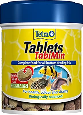 Tetra Tabimin Fish Food, Complete Fish Food with Shrimps for All Bottom-Feeding Fish, 275 Tablets
