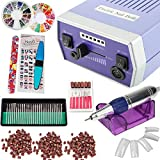 iMeshbean Complete Professional Improved 30000 RPM Electric Nail File Drill Acrylic Pedicure Machine Bits Kit USA (Blue)