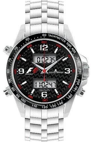 JACQUES LEMANS Formula 1 UTC F-5009B - Reloj de Caballero de Cuarzo, Correa de Acero Inoxidable Color Plata